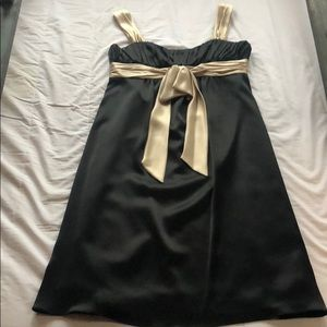 Black and gold silk bow dress!